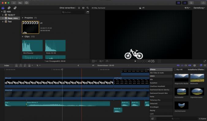 Videobearbeitung, Final Cut, Apple, Programm, App, Übersicht, Technik